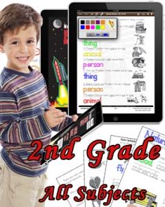Second Grade Bundle: Math, Science, Social Studies and Language Arts