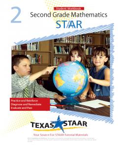 Texas STAAR 2nd Grade Math Student Workbook