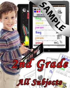 Sample Bundle 2nd Grade: Math, Science, Lang. Arts & Social Studies
