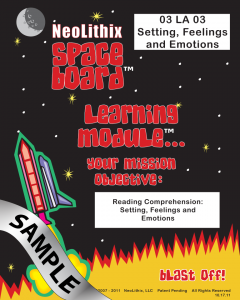 Sample 3rd Grade Language Arts Settings, Feelings & Emotions