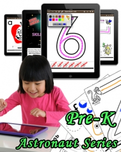 Astronaut Series (PreK) Digital Workbooks