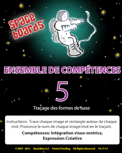 French Edition Astronaut Series A-05 Tracing Basic Shapes