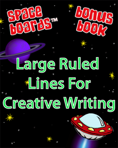 Free Bonus Book Large Ruled Lines for Creative Writing