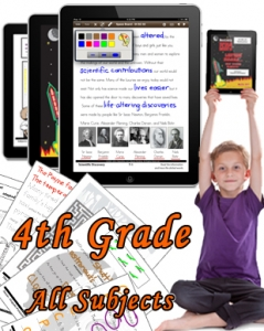 Fourth Grade Bundle: Math, Science, Social Studies and Language Arts