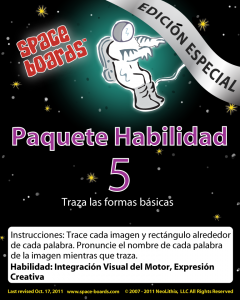 Spanish Special Edition Astronaut Series A-05 Tracing Basic Shapes