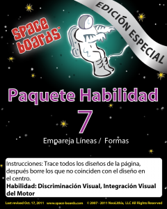 Spanish Special Edition Astronaut Series A-07 Matching Lines & Shapes