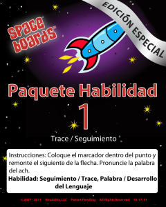 Spanish Special Edition Rocket Series R-01 Tracking & Tracing