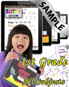 Sample Bundle 1st Grade: Math, Science, Lang. Arts & Social Studies