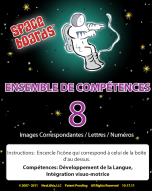 French Edition Astronaut Series A-08 Matching Pictures, Letters & Numbers
