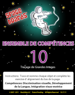 French Edition Astronaut Series A-10 Tracing Large Pictures