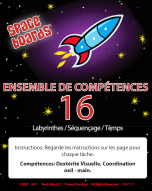 French Edition Rocket Series R-16 Mazes, Sequencing & Time