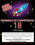 French Edition Rocket Series R-18 Action Words & Pictures