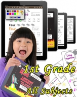 First Grade Bundle: Math, Science, Social Studies & Language Arts