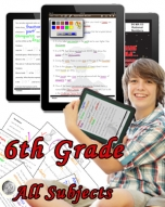 Sixth Grade Bundle: Math, Science, Social Studies and Language Arts
