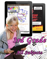 Third Grade Bundle: Math, Science, Social Studies and Language Arts