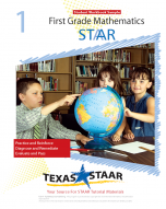 Texas STAAR 1st Grade Math Student Workbook Sample w/Answers