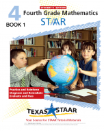 Texas STAAR 4th Grade Math Student Workbook Book 1 w/Answers