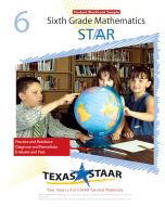 Texas STAAR 6th Grade Math Student Workbook Sample w/Answers
