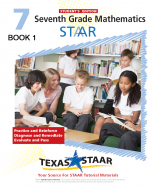 Texas STAAR 7th Grade Math Student Workbook 1 w/Answers