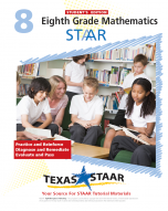 Texas STAAR 8th Grade Math Student Workbook Book 1