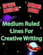 Free Bonus Book Medium Ruled Lines for Creative Writing