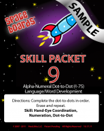 Sample Rocket Series R-09 Alpha, Numeral, Word Development