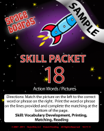 Sample Rocket Series R-18 Action Words & Pictures