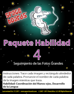 Spanish Edition Astronaut Series A-04 Tracing Large Pictures