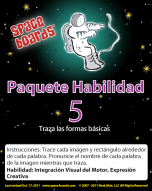Spanish Edition Astronaut Series A-05 Tracing Basic Shapes