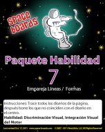 Spanish Edition Astronaut Series A-07 Matching Lines & Shapes