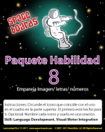 Spanish Edition Astronaut Series A-08 Matching Pictures, Letters & Numbers