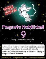 Spanish Edition Astronaut Series A-09 Tracing & Matching Pictures