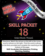 Special Edition Rocket Series R-18 Action Words & Pictures