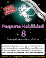 Spanish Special Edition Astronaut Series A-08 Match Pictures, Letters & Numbers