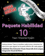 Spanish Special Edition Astronaut Series A-10 Tracing Large Pictures