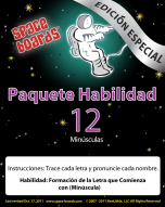 Spanish Special Edition Astronaut Series A-12 Lower Case Letters