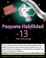 Spanish Special Edition Astronaut Series A-13 Upper & Lower Case Letters