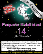 Spanish Special Edition Astronaut Series A-14 Upper & Lower Case Letters