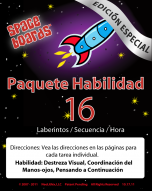 Spanish Special Edition Rocket Series R-16 Mazes, Sequencing & Time