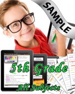 Sample Bundle 5th Grade: Math, Science, Lang. Arts & Social Studies
