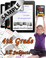 Sample Bundle 4th Grade: Math, Science, Lang. Arts & Social Studies