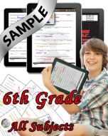Sample Bundle 6th Grade: Math, Science, Lang. Arts & Social Studies