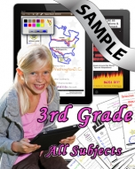 Sample Bundle 3rd Grade: Math, Science, Lang. Arts & Social Studies