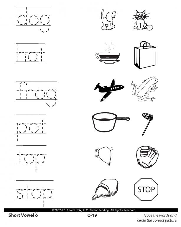 1st Grade Language Arts Short Vowels