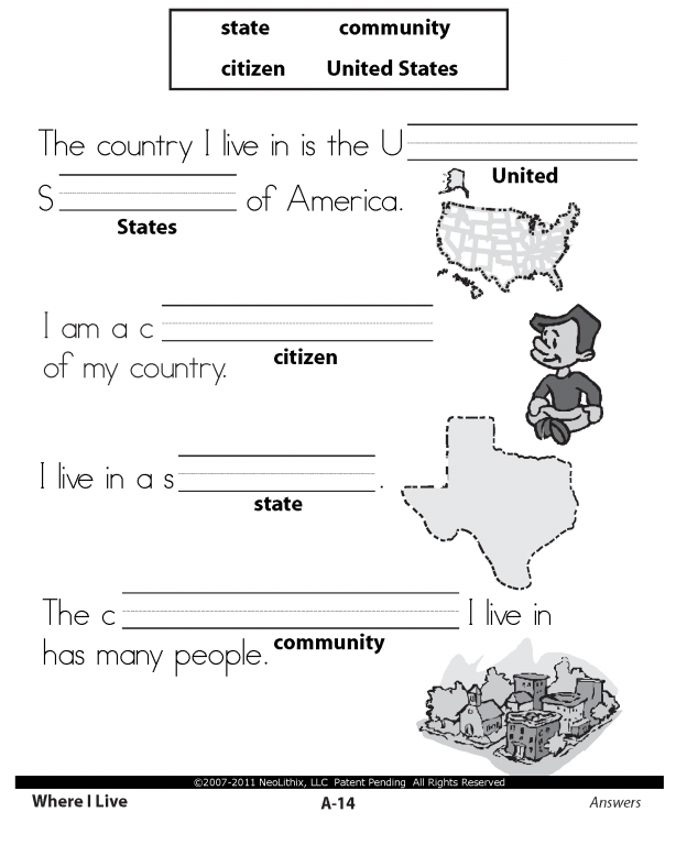 1St Grade Social Studies Worksheets – Citizenship in the World Worksheet