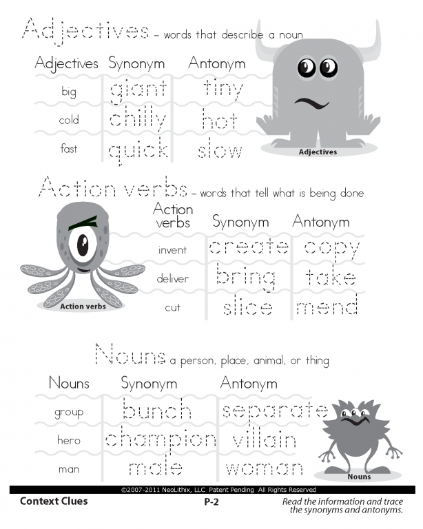 Third Grade Language Arts Context Clues