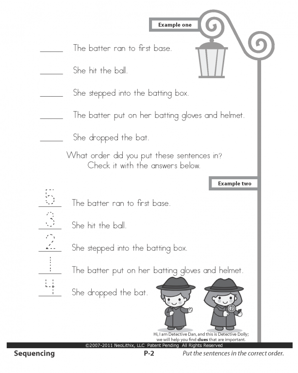 sample rd grade language arts sequencing cause effect
